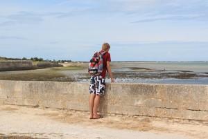 Zeebaars vissen aan de westkust van Frankrijk