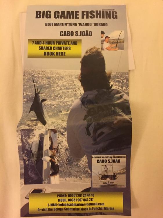 Cabo S.João Big Game Fishing Madeira